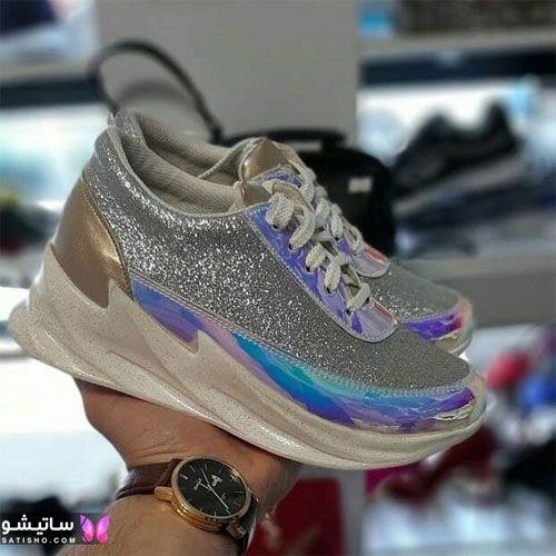 کفش اسپرت زنانه شیک و جدید هـولوگرامی