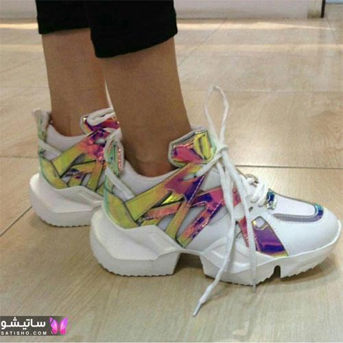 مدل کفش اسپرت شیک زنانه هـولوگرامی