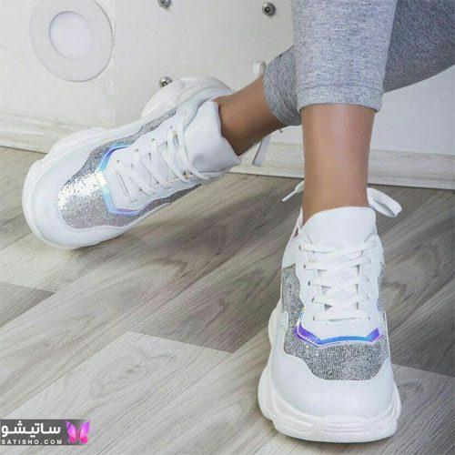 عکس کفش اسپرت شیک زنانه هـولوگرامی