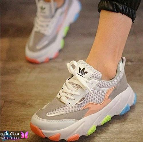 خرید کفش اسپرت شیک زنانه هـولوگرامی