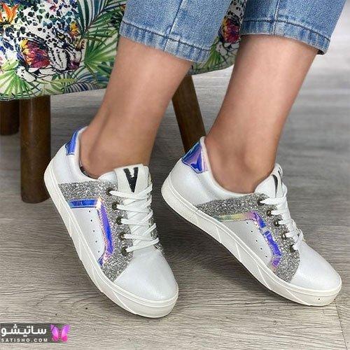 انواع کفش اسپرت دخترانه شیک هـولوگرامی