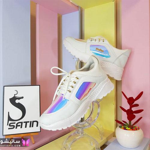 کفش اسپرت زنانه شیک هـولوگرامی