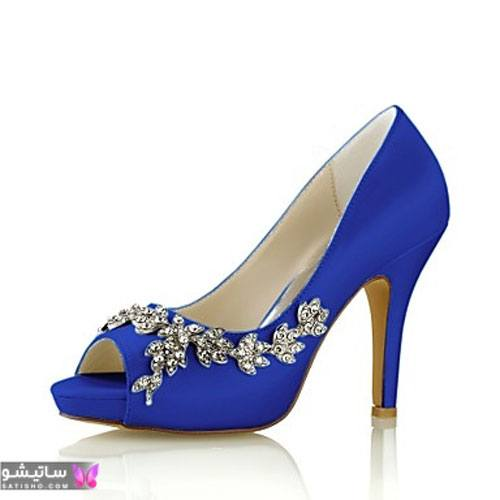 کفش مجلسی شیک 2021 آبی رنگ