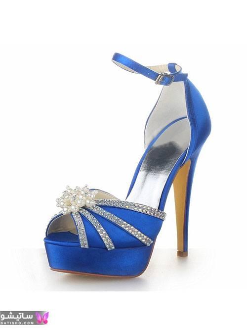 کفش مجلسی شیک جدید آبی رنگ