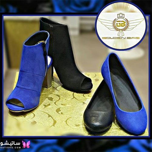 انواع کفش دخترانه جدید آبی رنگ