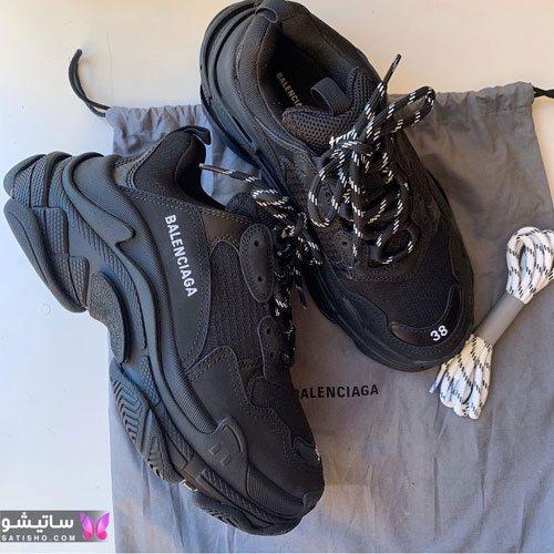 کفش اسپرت دخترانه رنگ مشکی 1400 جدید و شیک