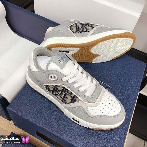 کفش اسپرت دخترانه 1400 رنگ طوسی سفید