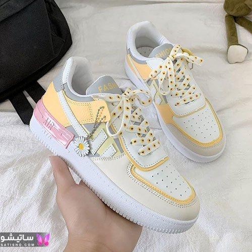 نمونه کفش های اسپرت و کتانی پسرانه رنگ سفید