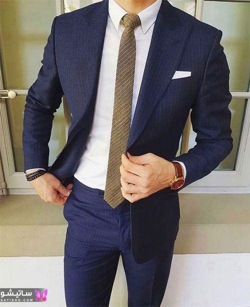 مدل کت شلوار دامادی شیک جدید