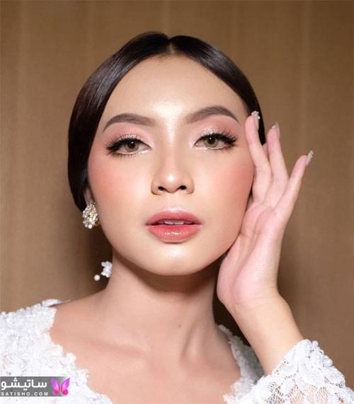 مدل آرایش ساده صورت در اینستاگرام
