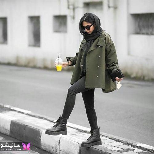 عکس مدل مانتو نخی جلوبسته دخترانه