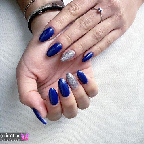 زیباترین مدلهای دیزاین ناخن با لاک آبی