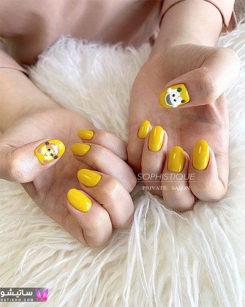 مدلهای جدید ناخن زرد دخترانه
