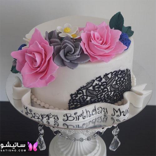 کیک تولد پسرانه تزیین شده با فوندانت