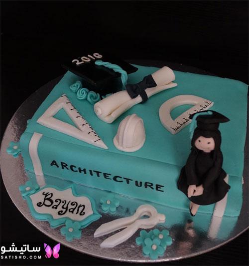 کیک تولد پسرانه بزرگسال طرح روز مهندس
