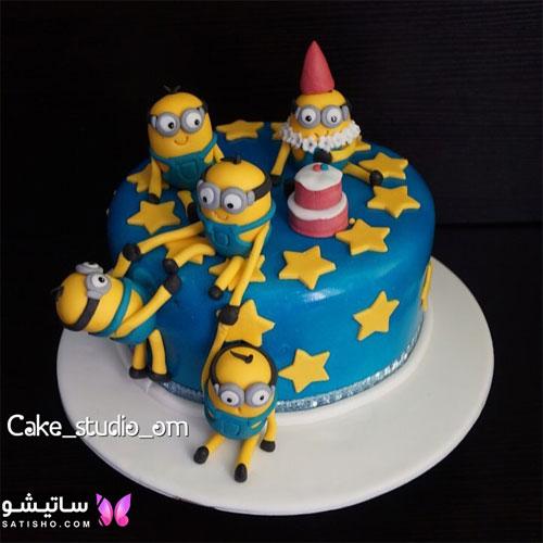 عکس کیک تولد پسرانه طرح مینیون