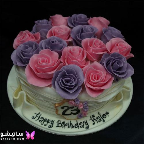تزیین ساده و شیک کیک تولد خامه ای