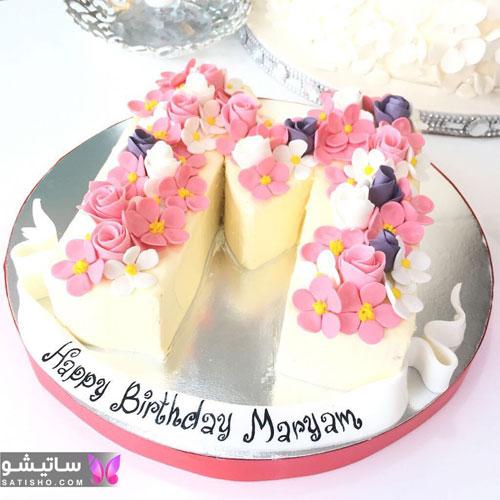 کیک تولد حروف پسرانه حرف M
