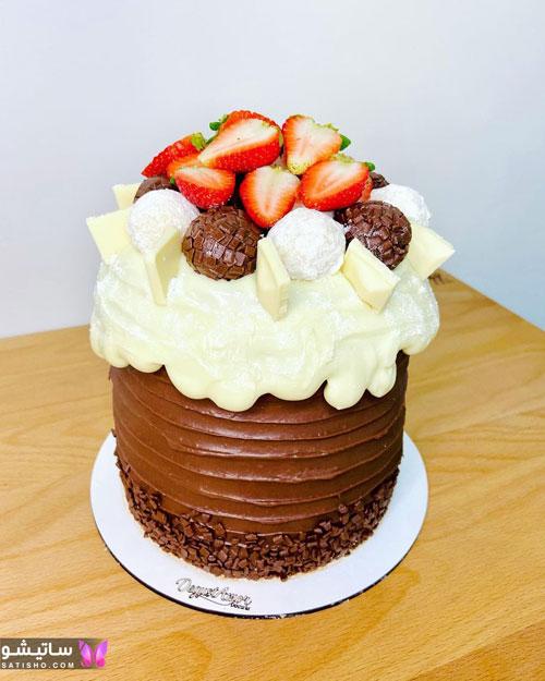 مدل های ساده کیک تولد شکلاتی پسرانه