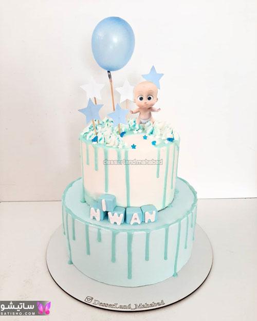 کیک تولد پسرانه بچه رئیس
