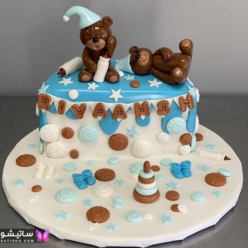 تزیینات شیک و ساده کیک پسرانه