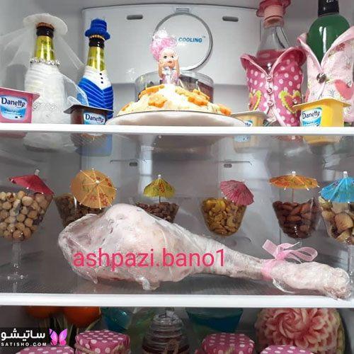 tazeen yakhchal aroos satisho 3 - تزیین یخچال عروس | شیک تری چیدمان یخچال فریزر عروس 1400