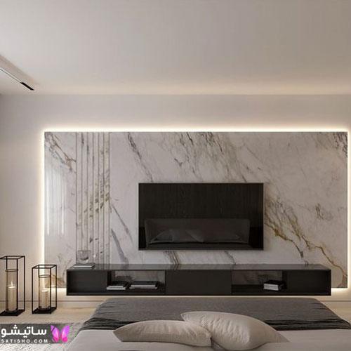 تزیین دیوار پشت تلویزیون با طرح های جدید
