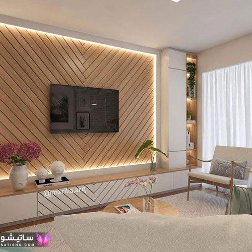طرح های شیک دیزاین دیوار پشت تلویزیون