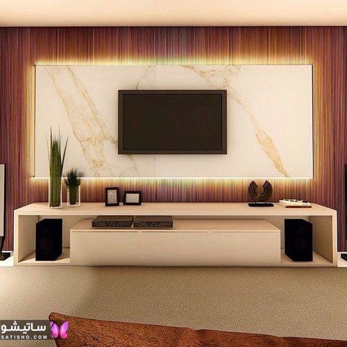 نقاشی و طراحی روی دیوار پشت تلویزیون
