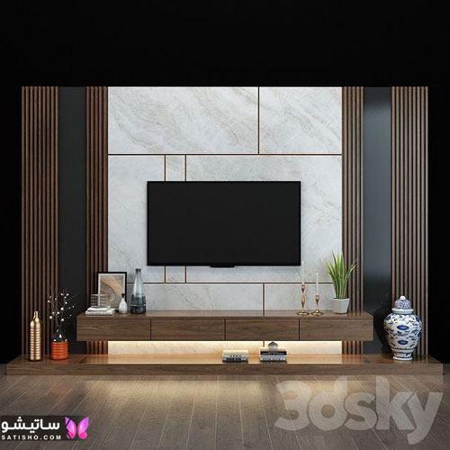 طراحی جدید دیوار پشت تلویزیون