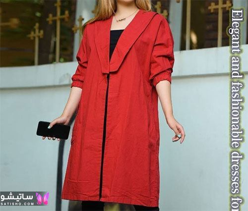 manto ghermez satisho 22 - جدیدترین مدل مانتو قرمز اسپرت | مانتو قرمز کوتاه دخترانه 2022