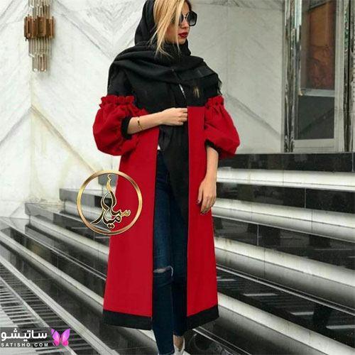 manto ghermez satisho 35 - جدیدترین مدل مانتو قرمز اسپرت | مانتو قرمز کوتاه دخترانه 2022