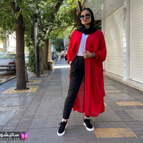 manto ghermez satisho 44 - جدیدترین مدل مانتو قرمز اسپرت | مانتو قرمز کوتاه دخترانه 2022