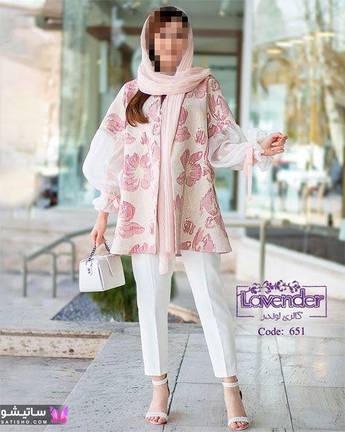 manto kootah satisho 3 1 - 49 مدل مانتو کوتاه دخترونه و شیک برای فصل بهار و تابستان 1400