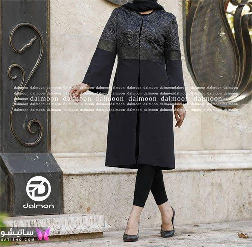manto meshki satisho 105 - ⚫️ انواع مدل های جدید مانتو مشکی شیک زنانه و دخترانه 2021