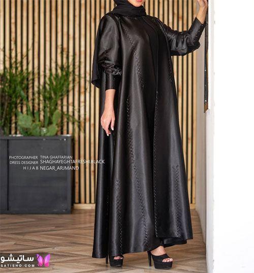 مدل مانتو رسمی مشکی دامن کلوش دخترانه