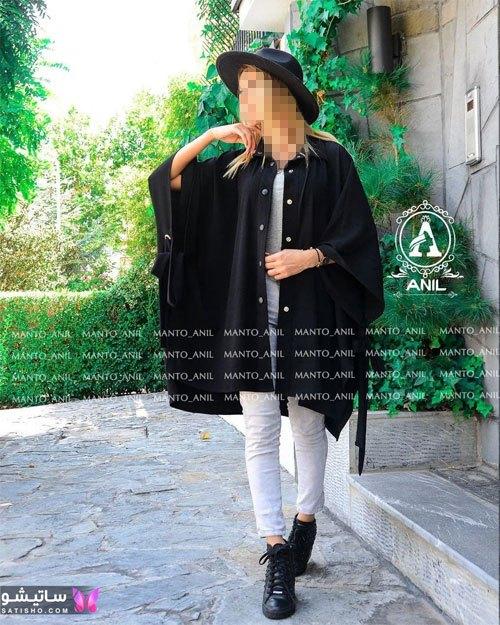 manto meshki satisho 122 - ⚫️ انواع مدل های جدید مانتو مشکی شیک زنانه و دخترانه 2021