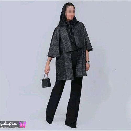 مدل مانتو جدید بلند دخترانه مـشکی رنگ