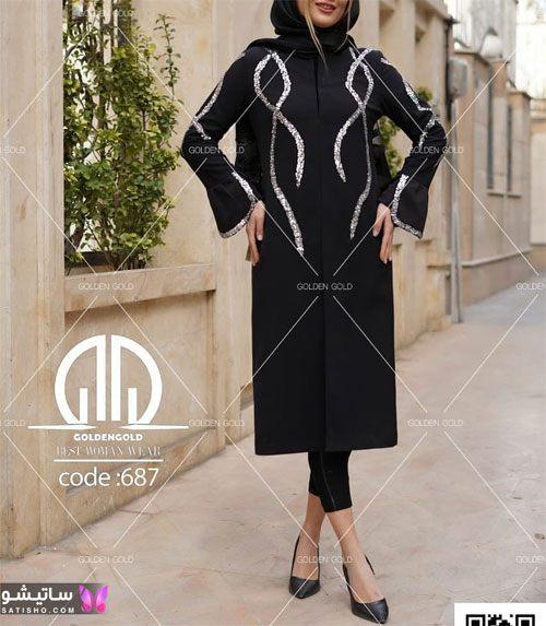 مدل مانتو جدید دخترانه سال ۱۴۰۰ مـشکی رنگ