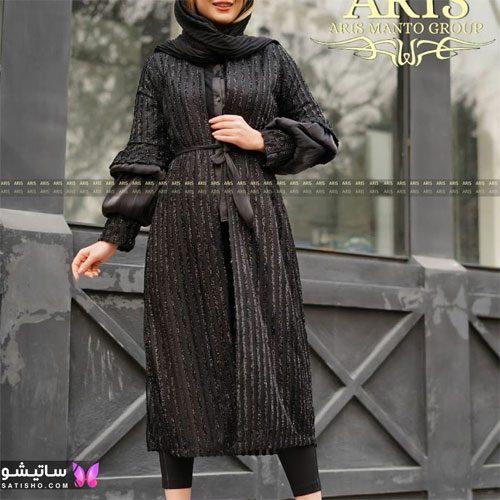 manto meshki satisho 52 - مدل مانتو مشکی دخترانه برای محرم 1400