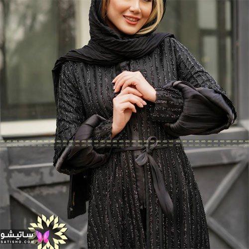 manto meshki satisho 53 - مدل مانتو مشکی دخترانه برای محرم 1400