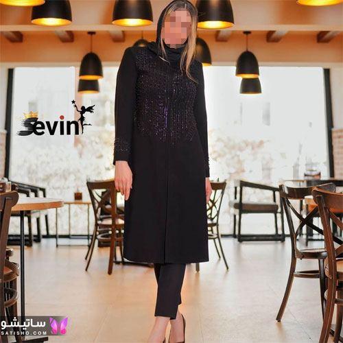 manto meshki satisho 57 - مدل مانتو مشکی دخترانه برای محرم 1400