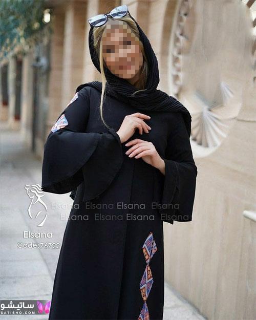manto meshki satisho 61 - مدل مانتو مشکی دخترانه برای محرم 1400