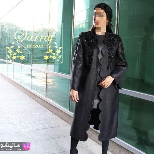 manto meshki satisho 62 - مدل مانتو مشکی دخترانه برای محرم 1400
