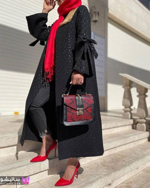 manto meshki satisho 64 - مدل مانتو مشکی دخترانه برای محرم 1400