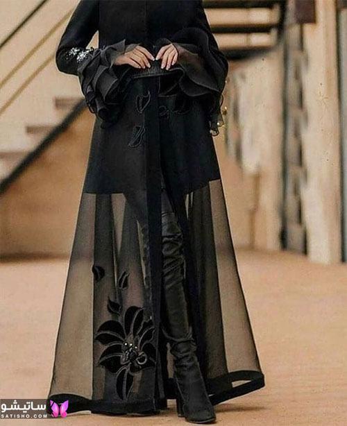 manto meshki satisho 65 - مدل مانتو مشکی دخترانه برای محرم 1400