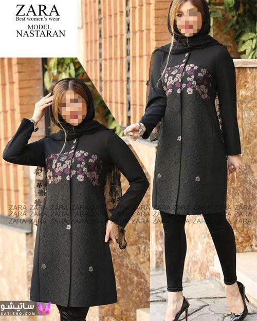 manto meshki satisho 73 - مدل مانتو مشکی دخترانه برای محرم 1400