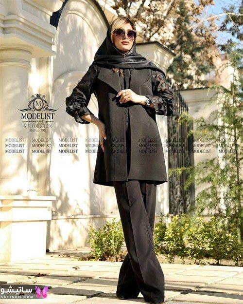 manto meshki satisho 76 - مدل مانتو مشکی دخترانه برای محرم 1400