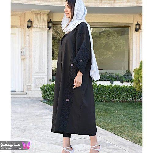 manto meshki satisho 79 - مدل مانتو مشکی دخترانه برای محرم 1400