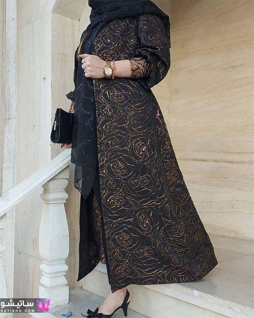 manto meshki satisho 89 - مدل مانتو مشکی دخترانه برای محرم 1400